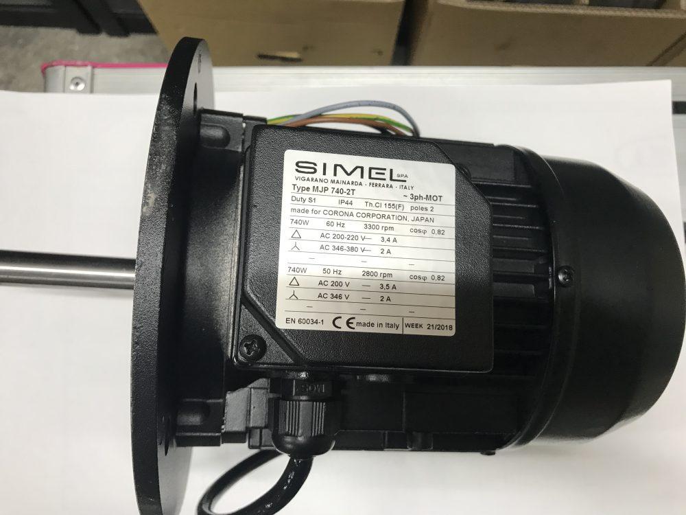 バーナモータ 0.74 kW
